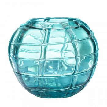 Стеклянная синяя ваза H17D19 HJ360-18-H30