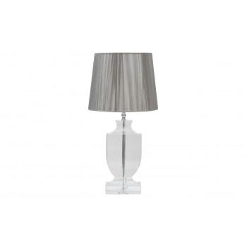 Хрустальная настольная лампа с серебряным абажуром X29300
