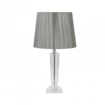 Хрустальная настольная лампа с серебряным абажуром  X18505