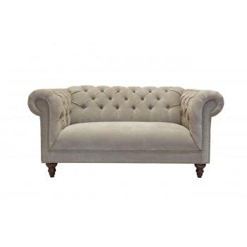 Велюровый двухместный диван Бежевый 72*90*170см PJS05502-PJ842
