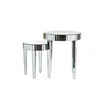 Комплект 2 зеркальных стола (66х66х76/50,8х50,8х58,4) арт. KF-13163