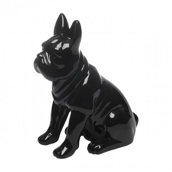 Статуэтка Бульдог чёрная 21х14х27 D3232 в интернет-магазине ROSESTAR фото