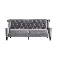 Бархатный трехместный диван Серый 211*89*96см сНЕ-15