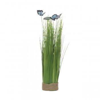 Стебли травы с бабочками на плетеной основе 40 см 8J-14AK0041