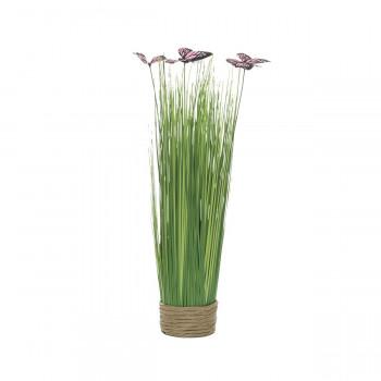 Стебли травы с бабочками на плетеной основе 40 см 8J-14AK0042