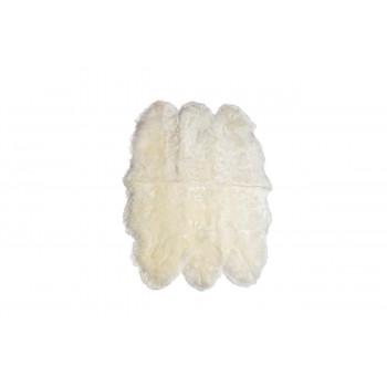 Овечья шкура белая 6-шкурная со швами 155х110 см