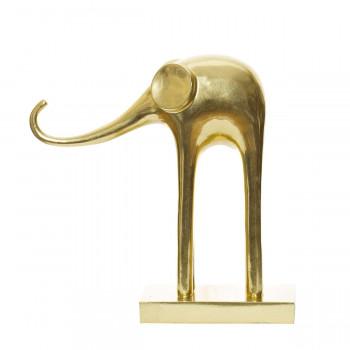 Статуэтка Слон 30*11*33см золотой C1289