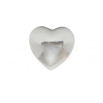 Декоративный элемент Сердечко серебряное 7,6*7,1*4,6 D0805