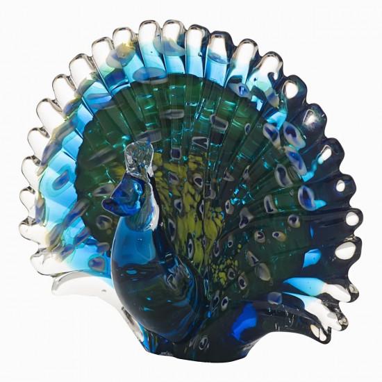 Статуэтка Павлин сине-зеленая 19*9*15 F5242 в интернет-магазине ROSESTAR фото