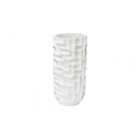 Кашпо напольное белое 33*33*69см ZS-C787-27  в интернет-магазине ROSESTAR фото