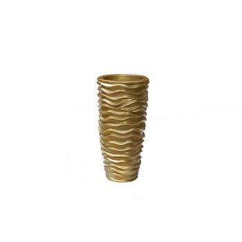 Кашпо напольное золотое 32*32*65см ZS-C845-26