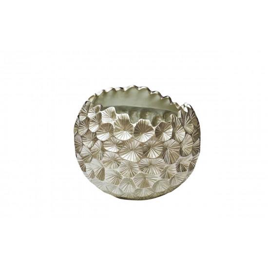 Кашпо серебряное 46*46*40см ZS-C1032-18 в интернет-магазине ROSESTAR фото