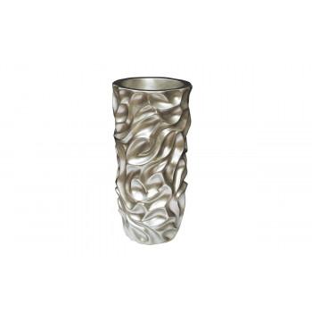 Кашпо напольное серебряное 33*33*69см ZS-C847-27