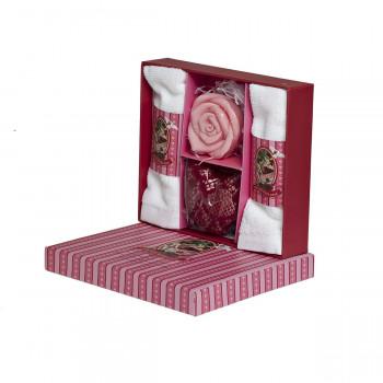 Подарочный набор с ароматом лимонника и имбиря 18.5*16*4.5 см F15S-LG028