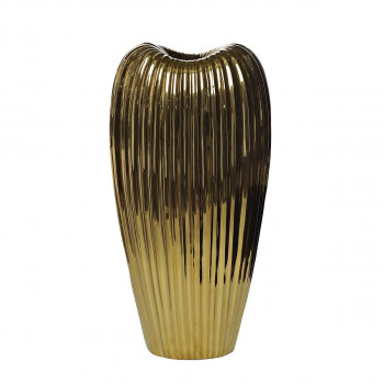 Керамическая золотая ваза 22*16*43 10K9041B