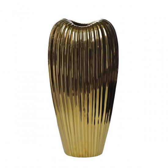 Керамическая золотая ваза 22*16*43 10K9041B  в интернет-магазине ROSESTAR фото