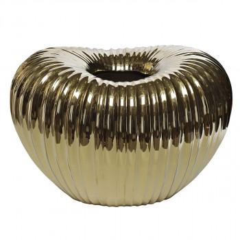 Керамическая золотая ваза 30*21*21 10K9042