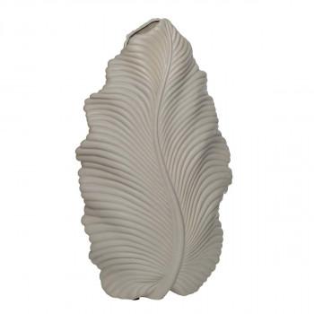 Керамическая бежевая ваза 21*11*39 10K9125C