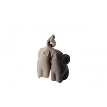 Статуэтка Слоники бежево-коричневые набор 7*6,5*15 10K8105/8106D