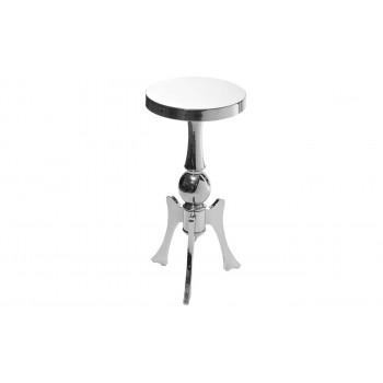 Металлический круглый хромированный журнальный столик 32*30*64 2K11730