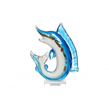 Статуэтка Щука сине-голубая 18*6*24 F6224