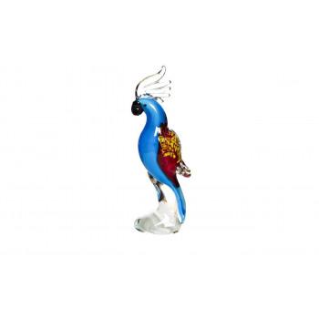 Статуэтка Попугай голубая 8,5*6*22,5 F4937