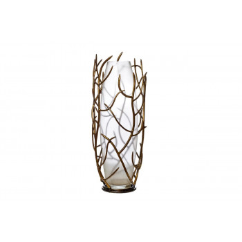 Стеклянная ваза в ветках d23*66см ART-8386-TT1