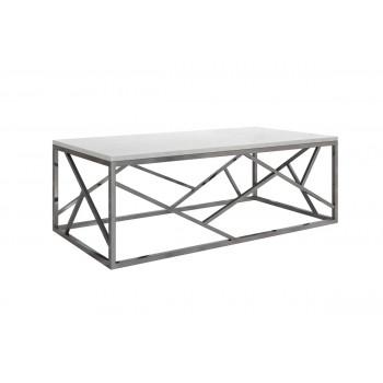 Журнальный столик с мраморной столешницей на металлическом каркасе 60*120*40 GY-CT2051214BLSM