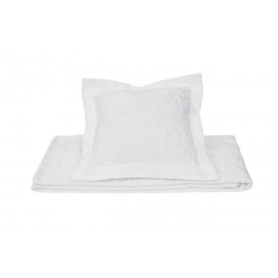 Декоративная белая наволочка 50*50 16AMR-GOLD N.01-WH в интернет-магазине ROSESTAR фото