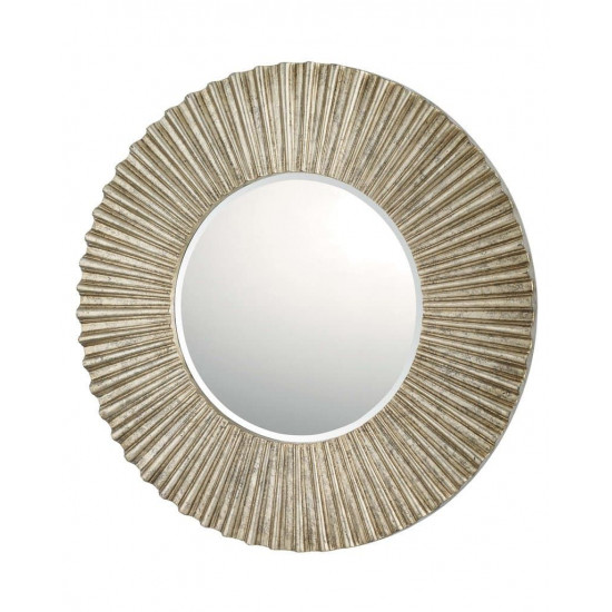 """Зеркало круглое настенное в серебряной раме """"Летиция"""" в интернет-магазине ROSESTAR фото"""