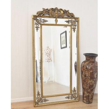"""Напольное большое зеркало в раме в полный рост """"Пабло"""" Золото"""