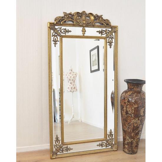 Напольное большое зеркало в раме в полный рост Пабло Золото