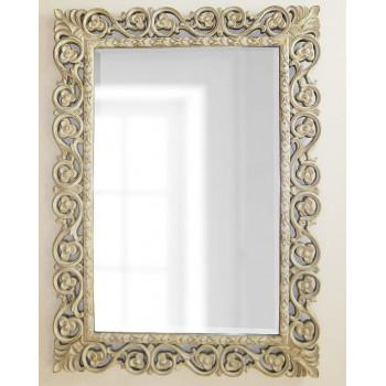 Зеркало в прямоугольной красивой раме Бергамо Artisan Ivory
