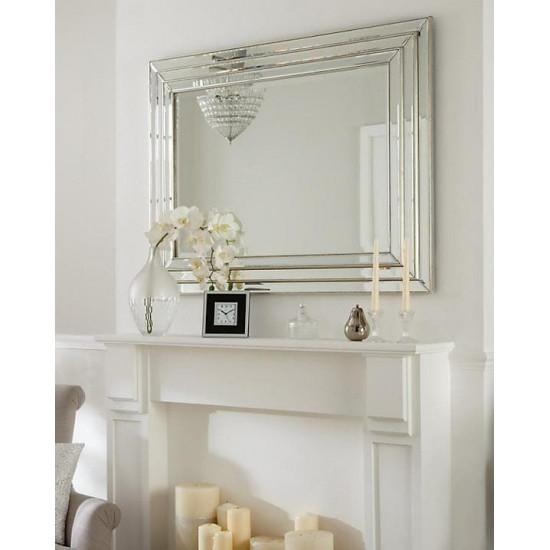 Венецианское зеркало в раме Пасадена Серебро в интернет-магазине ROSESTAR фото