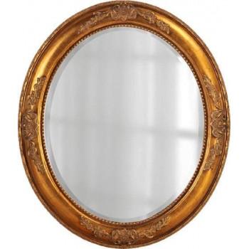 """Зеркало овальное в золотой раме """"Эвора"""" Голд"""