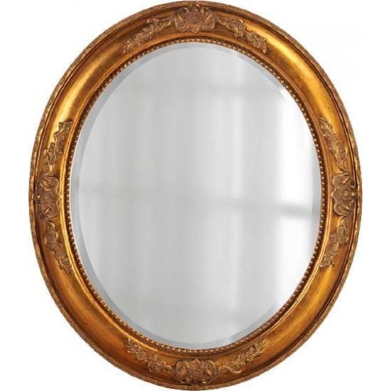 Зеркало овальное в золотой раме Эвора Голд в интернет-магазине ROSESTAR фото