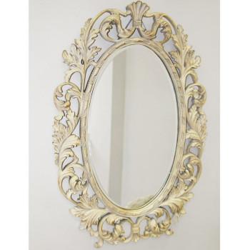 """Зеркало овальное настенное в раме """"Гойя"""" Artisian Ivory"""