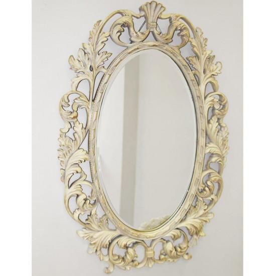 """Зеркало овальное настенное в раме """"Гойя"""" Artisian Ivory в интернет-магазине ROSESTAR фото"""