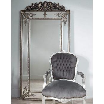 """Напольное большое зеркало в раме в полный рост """"Пабло"""" Серебро"""