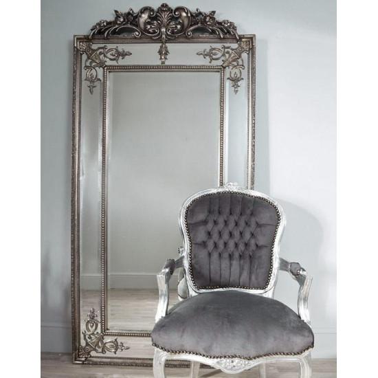 """Напольное большое зеркало в раме в полный рост """"Пабло"""" Серебро в интернет-магазине ROSESTAR фото"""