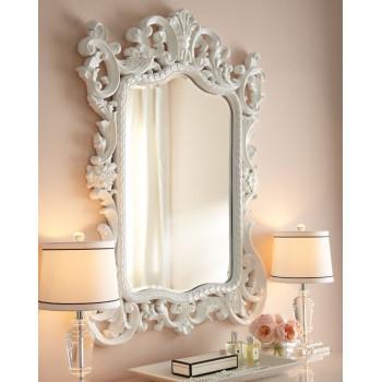 """Зеркало настенное в белой раме """"Гаэтано"""""""