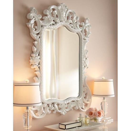 """Зеркало настенное в белой раме """"Гаэтано"""" в интернет-магазине ROSESTAR фото"""
