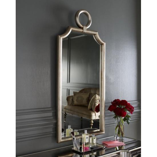 """Дизайнерское стильное зеркало в раме """"Пьемонт"""" Серебро в интернет-магазине ROSESTAR фото"""