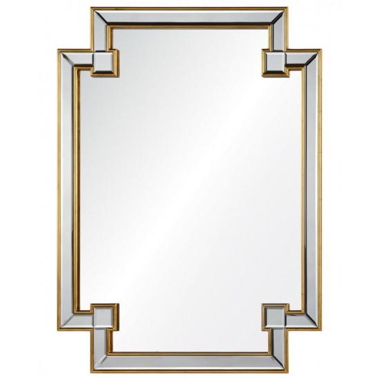"""Дизайнерское оригинальное зеркало настенное """"Честер"""" Золото в интернет-магазине ROSESTAR фото"""