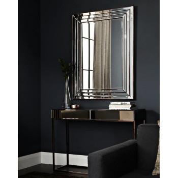 Консоль зеркальная на металлическом каркасе Герберт