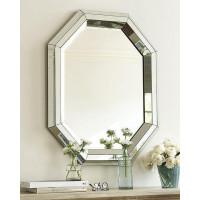 Дизайнерское стильное настенное зеркало в оригинальной раме Беркли