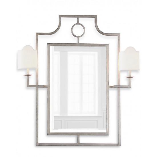 """Настенное зеркало с бра """"Эван"""" Серебро в интернет-магазине ROSESTAR фото"""