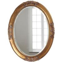 """Овальное зеркало в раме """"Миртл"""" Золото"""
