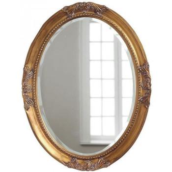 Овальное зеркало в раме Миртл Золото