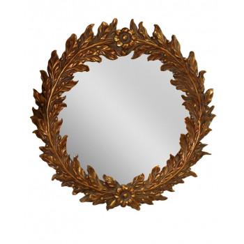 Круглое настенное зеркало в раме Васари